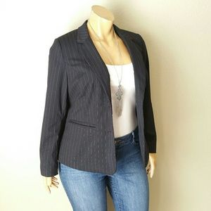 Lane Bryant Dark Blue Blazer